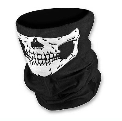 New Skull Skeleton Neck Warmer Mask Snood Bandana Bike Biker Bobber Motorcycle