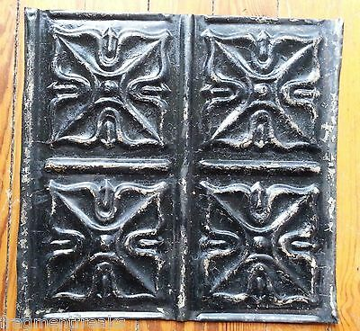 "12"" x 12"" Antique Tin Ceiling Tile *SEE OUR SALVAGE VIDEOS Black TR31"