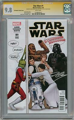 Star Wars #1 Humour Variant Cgc 9.8 Signature Series Signed Cassaday 1St Day