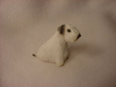SEALYHAM TERRIER puppy TiNY FIGURINE Dog HANDPAINTED MINIATURE Mini Statue NEW