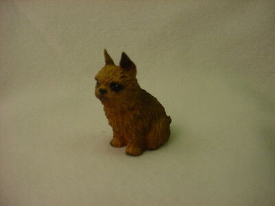 BRUSSELS GRIFFON red brown TiNY DOG Resin HAND PAINTED Figurine MINIATURE Mini