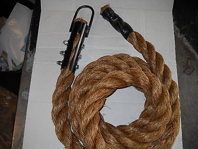 "1 1/2"" x 12 FT Manila Climbing Rope Brown Indoor/Outdoor WORKOUT"