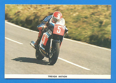 Trevor Nation At Brandywell 1986 T.t.winner.limited Edition Postcard