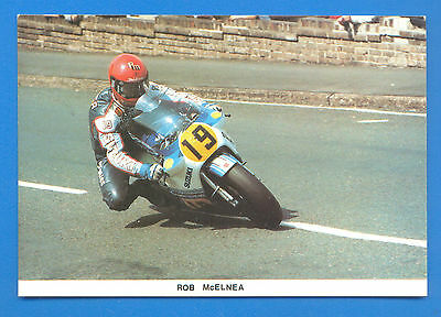 ROB McELNEA AT MAY HILL,RAMSEY,1984 T.T.POSTCARD