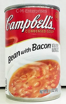 Campbell's Bean with Bacon Condensed Soup 11.5 oz 3 Cans Campbells