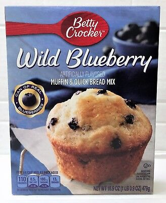 Betty Crocker Wild Blueberry Premium Muffin Mix & Quick Bread Mix 16.9 oz