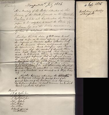 1826 MARYPORT Resolutions of Meeting, Manor of Dearham,  Waste Grounds