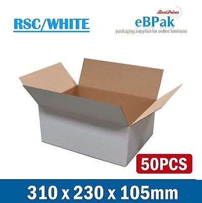 #A4-RS 50 310x230x105mm A4 BX2 SIZE Mailing Box - Brown Regular Slotted Carton