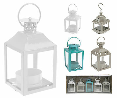 Set of 5 Tea Light Holders Metal Lanterns Candle Holders Garden Lanterns