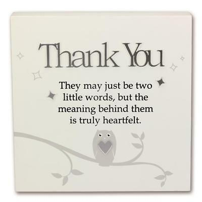 Said With Sentiment 7131 Wall Art Block Thank You