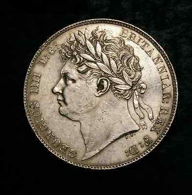 Excellent High Grade 1823 George Iv Halfcrown Extremely Fine Cleaned Spink 3808