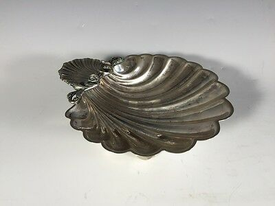 Old Beautiful 800 Silver European Shell Tray - 9410