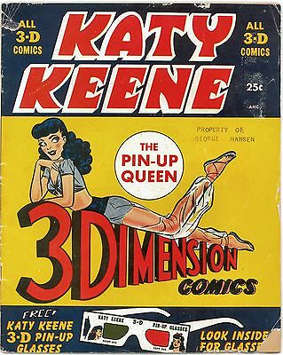 Katy Keene 3-D Comic (1953) VG - w/GLASSES Pin-Up Queen