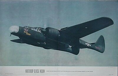 1945 North American P-61 Black Widow Air Trails Poster