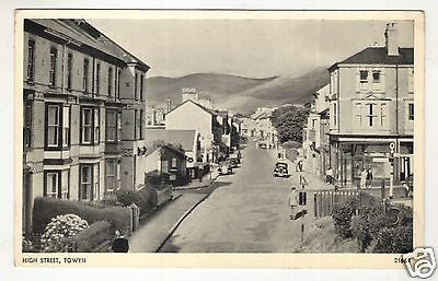wales welsh postcard united kingdom towyn high street