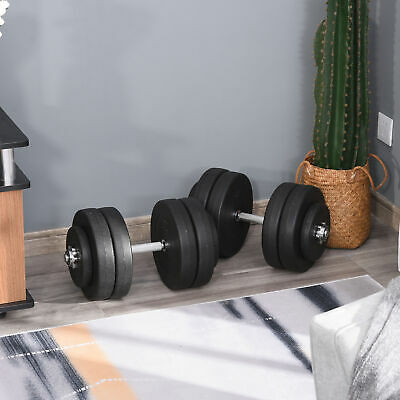 Soozier 110lbs Dumbbell Set Adjustable Hand Weights Fitness Training Home Gym