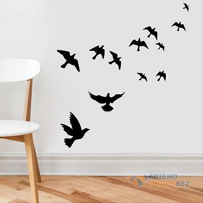Pigeon Birds Wall Decals Set Removable Stickers Wall Decor DIY Art Mural Nature