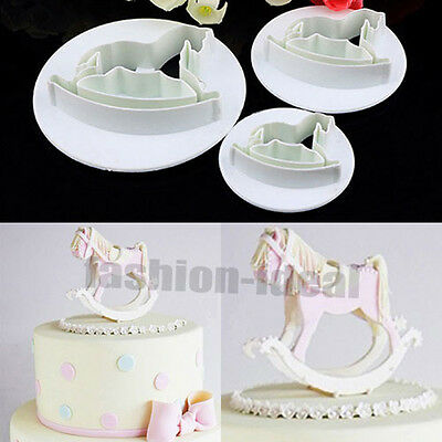Hot Wooden Horse Fondant Cake Cookie Cutter Paste Sugarcraft Decorating Tools #F