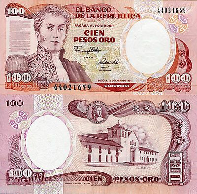 COLOMBIA 100 Pesos Banknote World Money Currency BILL South America p426e Note