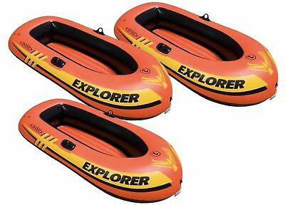 3 Pack Intex Explorer 200 Inflatable Boat For Swimming Pool Pond Or Lake 58330EP