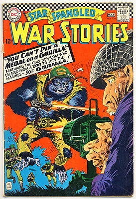 STAR SPANGLED WAR STORIES #126 VG, Kubert cvr, No Dinosaur story, DC Comics 1966