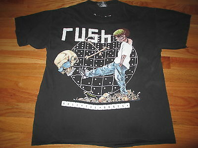 "1991 RUSH ""ROLL THE BONES"" World Tour Concert (LG) T-Shirt"