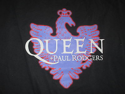 2005 QUEEN + PAUL RODGERS Concert Tour (XL) T-Shirt NEW JERSEY & CALIFORNIA