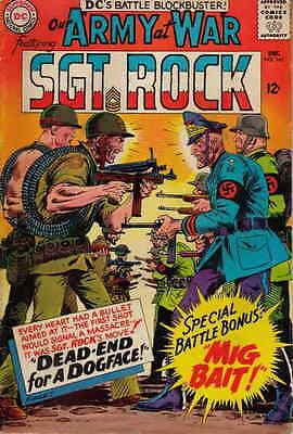 OUR ARMY AT WAR #161 G, SGT ROCK, Cover loose TS, Water damage. DC Comics 1965
