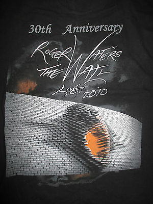 """2010 ROGER WATERS - PINK FLOYD """"30th Anniversary"""" THE WALL LIVE"""" (LARGE) T-Shirt"""