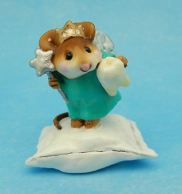 TOOTH FAIRY by Wee Forest Folk, M-148, AQUA, Collector's Haven Store Special