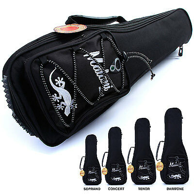 Deluxe Ukulele Gig Bag: 10mm Padded Soft Carry Case for Uke: 4 different sizes