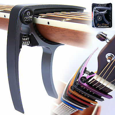 Premium Guitar Capo: Nordell 'Quick Change' Trigger Clamp for Acoustic Electric