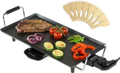 Andrew James Electric Teppanyaki Grill Table Top Griddle BBQ Hot Plate 2000W