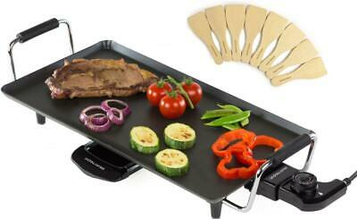Andrew James Electric Teppanyaki Table Grill Griddle BBQ Skillet Hot Plate 2000W
