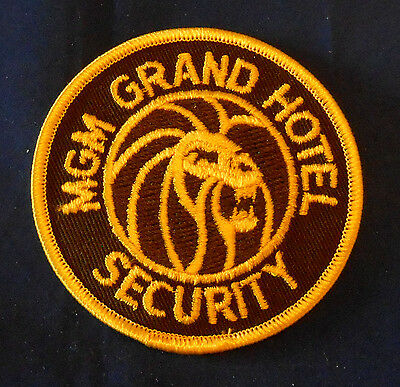 MGM Grand Hotel Security Shoulder Patch (invp2996) Nevada