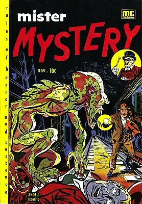 Mister Mystery 02 Comic Book Cover Art Giclee Reproduction on Canvas