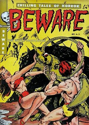 Beware 12 Comic Book Cover Art Giclee Reproduction on Canvas