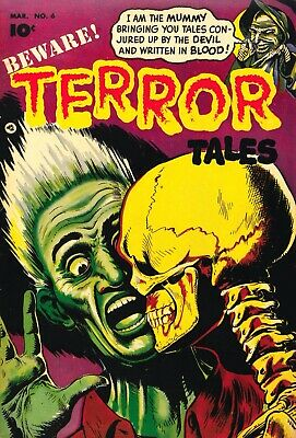 Beware Terror Tales 06 Comic Book Cover Art Giclee Reproduction on Canvas