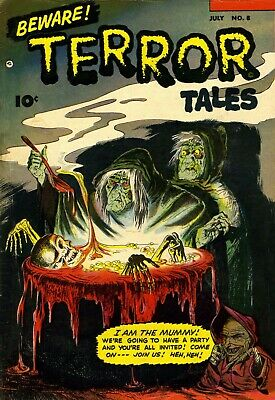 Beware Terror Tales 08 Comic Book Cover Art Giclee Reproduction on Canvas