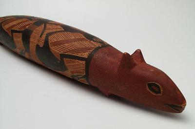 Fine Vintage Handcarved Australian Aboriginal Totem Animal Figure Handpainted