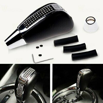 Universal Fit Bling Bling Crystal Rhinestone Leather Shift Knob For Car Shifter