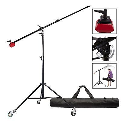 BA04+WH22+TB120 Heavy Duty Boom Arm Stand STAND 4.5kg Counterweight wheels Top q