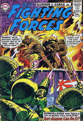OUR FIGHTING FORCES #83 VG, Gunner & Sarge, Stamped FC & 1st pg, DC Comics 1964