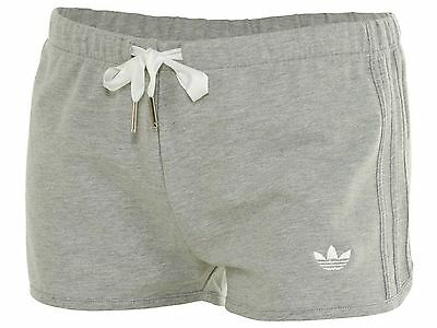 Adidas Slim Short Womens S19645 Grey French Terry Shorts Wmns Size M