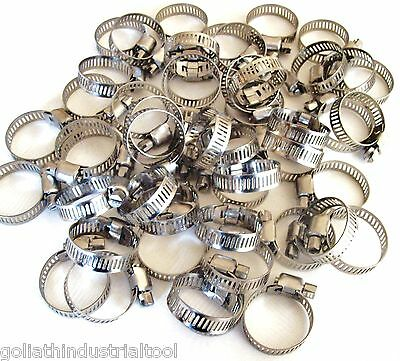 """50 Goliath Industrial Stainless Steel Hose Clamps 5/8"""" - 1"""" Sshc10 16Mm-25Mm"""