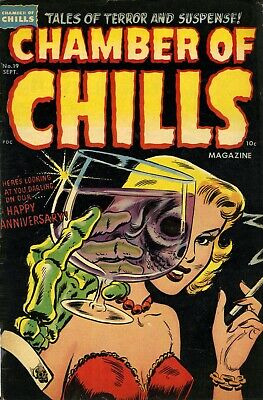 Chamber of Chills (Harvey) 19 Comic Book Cover Art Giclee Reproduction on Canvas