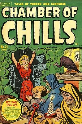 Chamber of Chills (Harvey) 21 Comic Book Cover Art Giclee Reproduction on Canvas