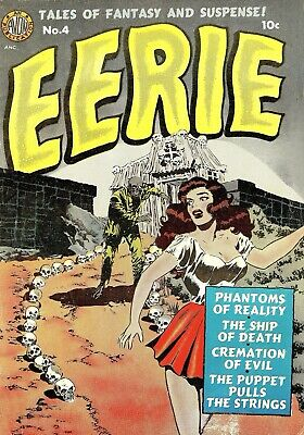 Eerie 04 Comic Book Cover Art Giclee Reproduction on Canvas