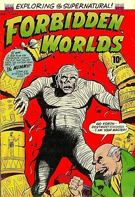 Forbidden Worlds 18 Comic Book Cover Art Giclee Reproduction on Canvas