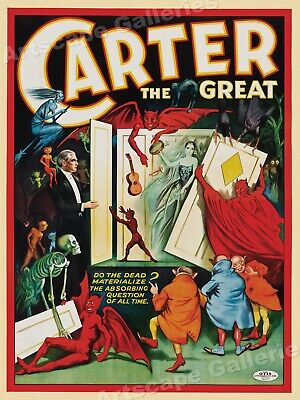 Carter - Do the Dead Come Back? 1920s Vintage Style Magic Poster - 18x24